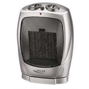 Termoventiliatorius Adler AD 7703 Fan heater, Number of power levels 2, 750/ 1500 W, Silver Ventiliatoriai