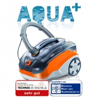 Thomas Vacuum cleaner AQUA PET&FAMILY Dry vaccuuming with AQUA+ filter system or hygienebox with dust bag, Grey/ orange, 1600 W, HEPA filtration system