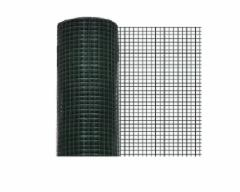 Welded mesh tvoros, virintas žalias 13mmx13mmx5mx1,0m (0,9mm) Fences nets welded Plasticised