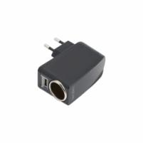 Tinklo įkroviklis USB LogiLink  cigarečių degiklio lizdas