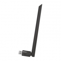 Tinklo plokštė Qoltec USB Wi-Fi Wireless Adapter with antenna | 20cm