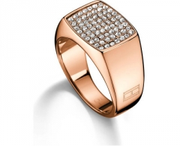 Tommy Hilfiger žiedas su kristalu TH2700734 (Dydis: 58 mm)