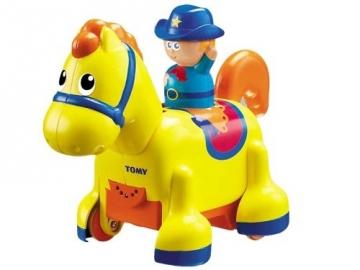 TOMY 3861 Clip Clop Cowboy Walking Horse Muzikiniai žaislai