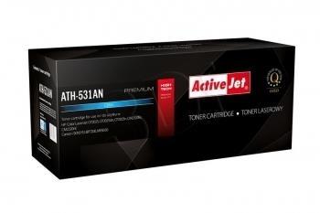 Toneris ActiveJet ATH-531AN | Cyan | 2800 str. | HP HP CC531A (304A), Canon CRG-