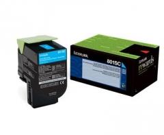 Toneris Lexmark 802SC cyan| return | 2000 pgs| CX310dn / CX310n / CX410de / CX41