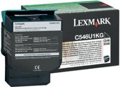 Toneris Lexmark black | 8000pgs | return | C546 / X546