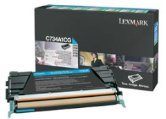 Toneris Lexmark cyan | return | 6000pgs | C734/C736/X734/X736/X738