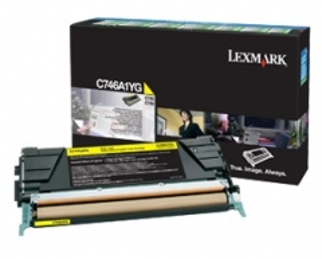 Toneris Lexmark yellow   return   7000pgs   C746/C748