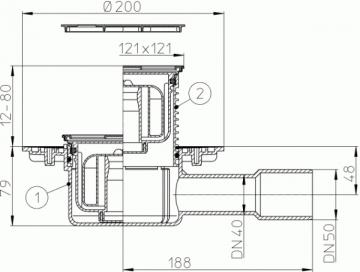Trapas HL 510 Npr-3000 Trapai, sifonai
