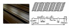 Trapezoidal profile steel roof PL16+ (SP - PA)
