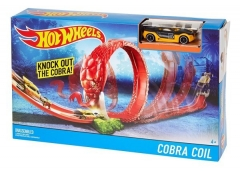 Trasa DWK95 / DWK94 Hot Wheels Cobra Coil Track Set Auto racing dziesmas bērniem