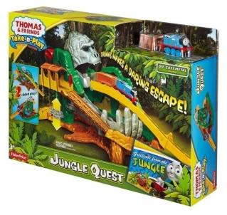 Traukinukas DGK89 Thomas & Friends Take-n-Play Jungle Quest Set Geležinkelis vaikams