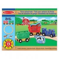 Traukinukas Farm Animal Train Set
