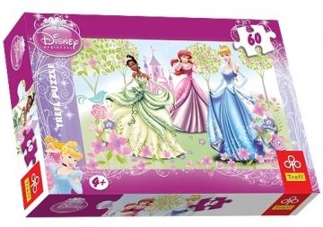 TREFL 17191 Puzzle princesės 60 det. Jigsaw for kids
