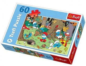 TREFL 17202 Puzzle Smurfs 60 det. Atjautības kids