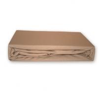 Trikotažinė paklodė su guma (Kreminė), 200x220 cm