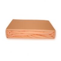 Trikotažinė paklodė su guma (Persikinė), 160x200 cm