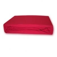 Trikotažinė paklodė su guma (Raudona), 160x200 cm