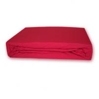Trikotažinė paklodė su guma (Raudona), 200x220 cm