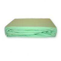 Trikotažinė paklodė su guma (Žalsva), 200x220 cm