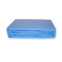 Trikotažinė paklodė su guma (Žydra), 200x220 cm