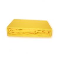 Trikotažinės paklodės su guma (Geltona), 160x200 cm