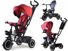 """Triratukas su stogeliu """"Tiny Bike 3in1"""", raudonas Par bērniem un to aksesuāru ratiņi"""
