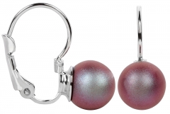 Troli Earrings with flap Pearl Iridescent Red