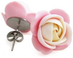 Troli kreminė-rožinė rožė