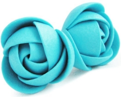 Troli mėlynos gėlės earrings Earrings