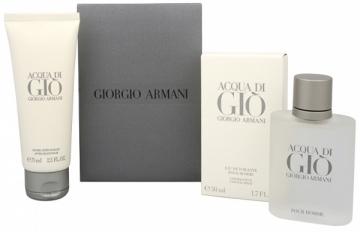 Tualetes ūdens Armani Acqua Di Gio Pour Homme EDT 50 ml + balzams po skutimosi 75 ml (Rinkinys) Kvepalų ir kosmetikos rinkiniai