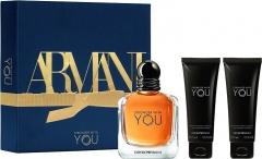 Tualetinis vanduo Armani Emporio Armani Stronger With You - EDT 100 ml + 2 x dušo želė 75 ml Kvepalų ir kosmetikos rinkiniai