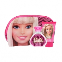 Tualetes ūdens Barbie Barbie EDT 50 ml + body lotion 100 ml + cosmetic bag (Rinkinys ) Smaržas bērniem