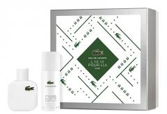 Tualetinis vanduo Lacoste Eau De Lacoste L.12.12 White EDT 50 ml (Rinkinys) Kvepalų ir kosmetikos rinkiniai