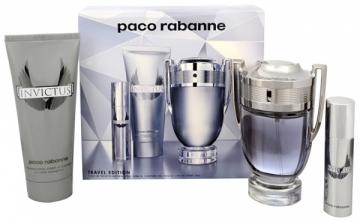Tualetinis vanduo Paco Rabanne Invictus EDT 100 ml + shower gel 100 ml + EDT 10 ml (Rinkinys)