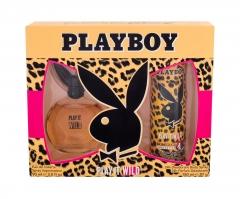 Tualetinis vanduo Playboy Play It Wild For Her Eau de Toilette 90ml (Rinkinys)
