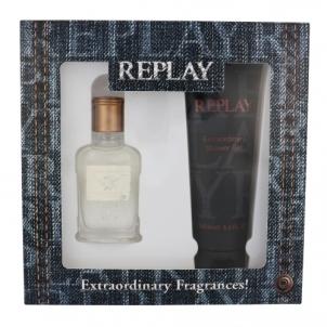 Tualetinis vanduo Replay Jeans Original EDT 30ml + shower gel 100 ml (Rinkinys)