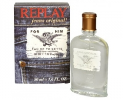 Tualetes ūdens Replay Jeans Original For Him EDT 30ml