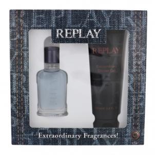 Tualetinis vanduo Replay Jeans Spirit EDT 30ml + shower gel 100 ml (Rinkinys)