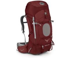 Turistinė kuprinė Aether 60 2016 Raudona, MD dydžio nugaros sistema