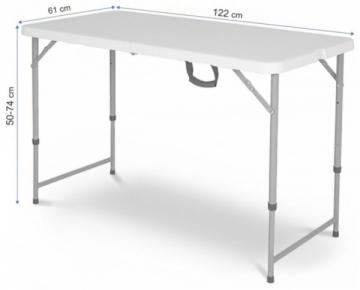 Turistinis stalas Home 122x60x54 - 74см Iepazīšanās mēbeles