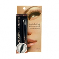 Tušas akims Makeup Revolution London Amazing Lengths Mascara Cosmetic 5,5ml Black Tušai akims