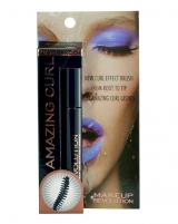 Tušas akims Makeup Revolution London Amazing Curl Waterproof Mascara Cosmetic 5ml Black Tušai akims