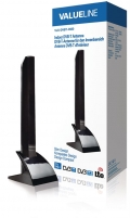TV antena Valueline indoor DVB-T antena slim design 15 dB TV antenos