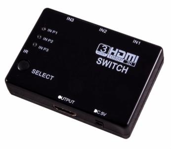 TV laikiklis ESPERANZA EB267 HDMI SWITCH 3xIN, 1xOUT + REMOTE CONTROL TV stovai, laikikliai