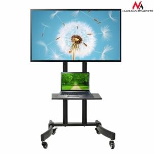 TV laikiklis Maclean MC-739 TV Mobile Floor Stand TV Trolley w/ Mounting Bracket max 32-65 TV stovai, laikikliai