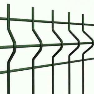 Tvoros segmentas 200x50x3/4x2500x1530mm, žalia, ruda, pilka Tvorų segmentai