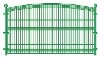 Tvoros segmentas cinkuotas A 50x200x4x1300x2500 dažytas Tvorų segmentai