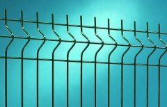 Hot dipped galvanized fencing panel Nylofor 3D PRO 5x50x200x1530x2500mm PVC