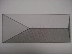 Tvoros stulpo stogelis 500x920 mm.